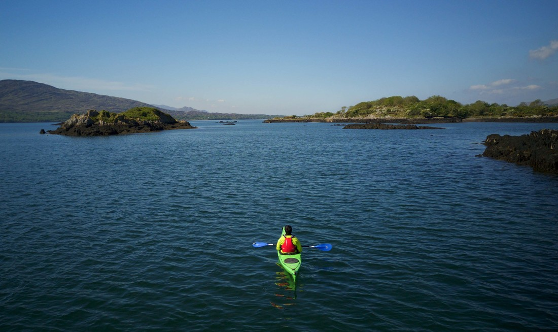 Unique kayak tour of Kenmare bay by Emerald Outdoors