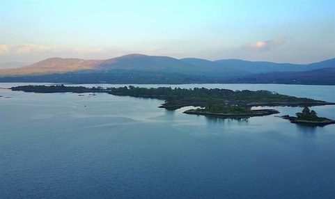 Aerial photo of Kenmare bay