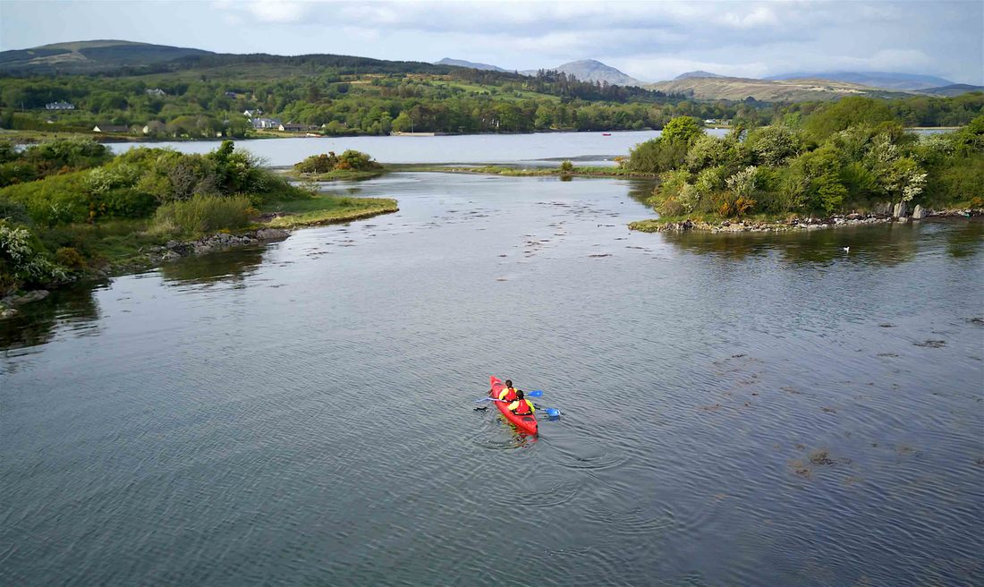Kayak family trip by Emerald Outdoors on Kenmare Bay